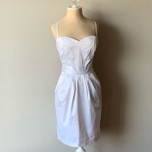 H&M White Dress with pockets - NWT